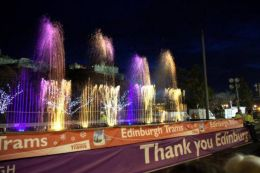 A thank you message from TIE at the Edinburgh Sparkles event over the weekend