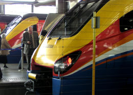 East Midlands Trains is a Stagecoach franchise. The others are South West Trains and a 49 per cent share of Virgin