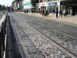 Tram lines along Princes Street -- laid in 2009 but yet to be used