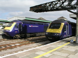 Image of HSTs at Plymouth