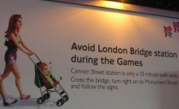 Olympics poster: please avoid London Bridge