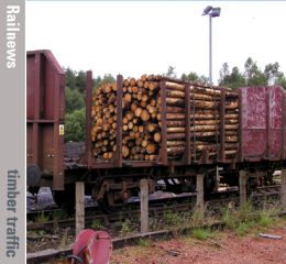 Scottish timber is back on the rails